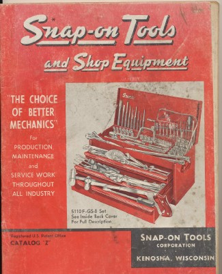 Vintage Snap-On Mechanics Tool & Shop Equipment Catalog